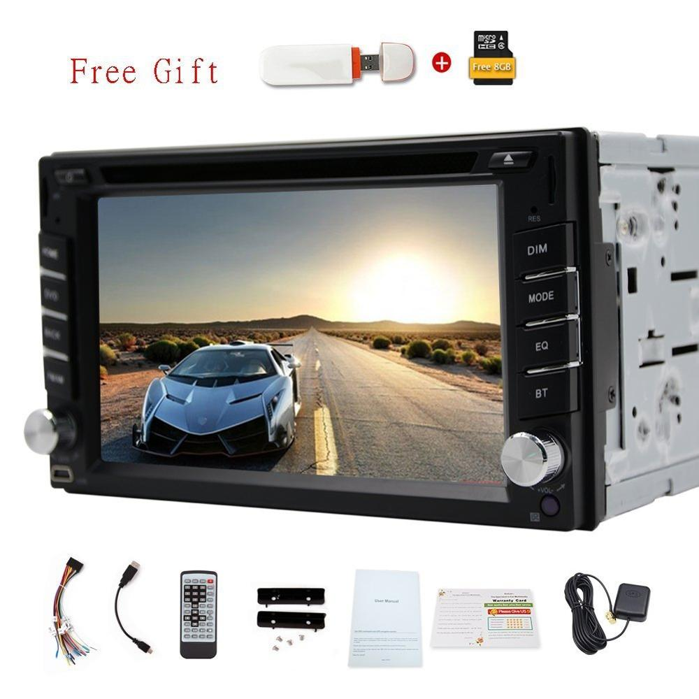 Car Radio Double 2 din Car DVD Player Electronics GPS Navigation In dash Car PC Stereo Head Unit video Bluetooth+Free 3G Dongle(China (Mainland))