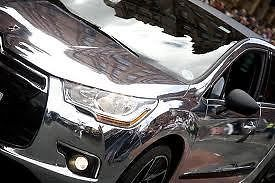 "Free Shipping!!! 20""x60"" Car Mirror Chrome Silver Sheet Wrapping Vinyl Film Sticker Air Release(China (Mainland))"