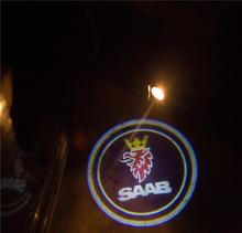 LED 2x Car Logo Laser Light Projector Courtesy Saab 9-3 9-5 9000 93 900 95 42250 42252 9-3X 9-2X Aero 9-4X 9-7X - GUFANG CAR Store store