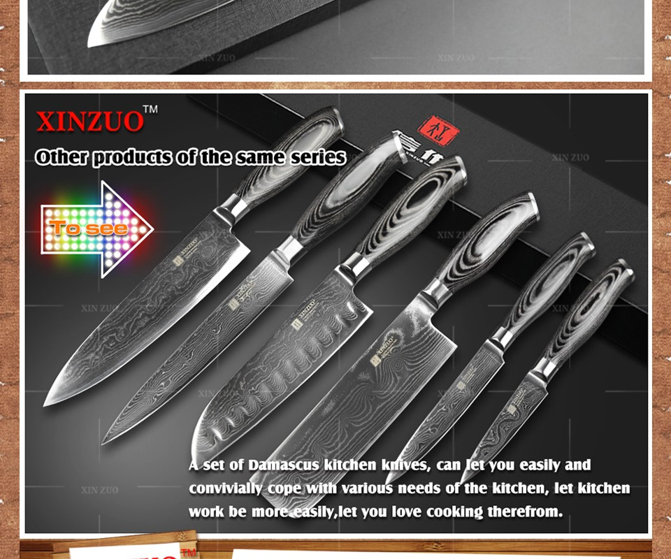 """Buy XINZUO 5""""  Japanese chef knfie 73 layers VG10 Damascus steel kitchen knives chef santoku knife forge wood handle free shipping cheap"""