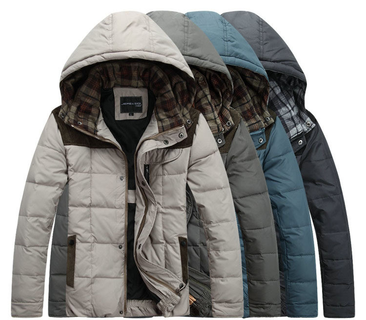 2014 Men Cotton Coat Fahion Hooded Padded Clothes Leisure Thicken Men s Jacket Winter Warm Down