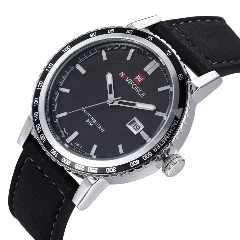 2015 NEW Leather Strap Military Watches Men Luxury Brand Analog Date Display Mens Quartz Watch Sports Watches Men Wristwatches<br><br>Aliexpress