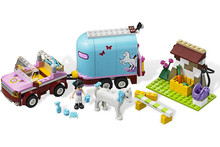 BELA Building Girls Friends 10161 Heartlake Emma's Horse Trailer Andrea Olivia Mia Blocks Minifigures Toy Compatible With Lego(China (Mainland))