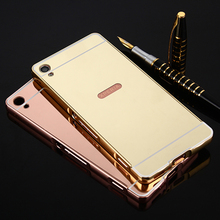 Buy Sony Xperia X/XP/XA/ XA Ultra Dual Case Luxury Hybrid Aluminum Metal Bumper Frame Mirror Back Cover case for $2.69 in AliExpress store