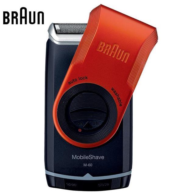 Браун электробритвы для мужчин M60o оранжевый электрическая бритва водосмываемый ...