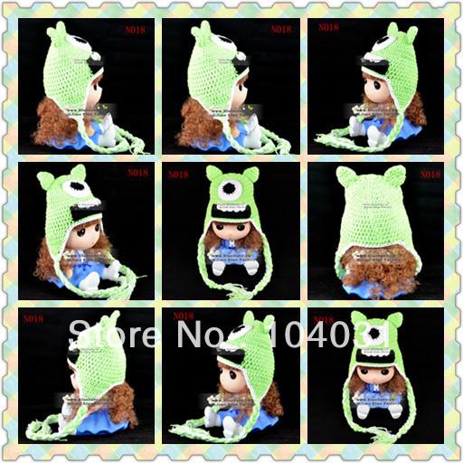 cute baby minion hat crochet pattern snowflake knit(China (Mainland))