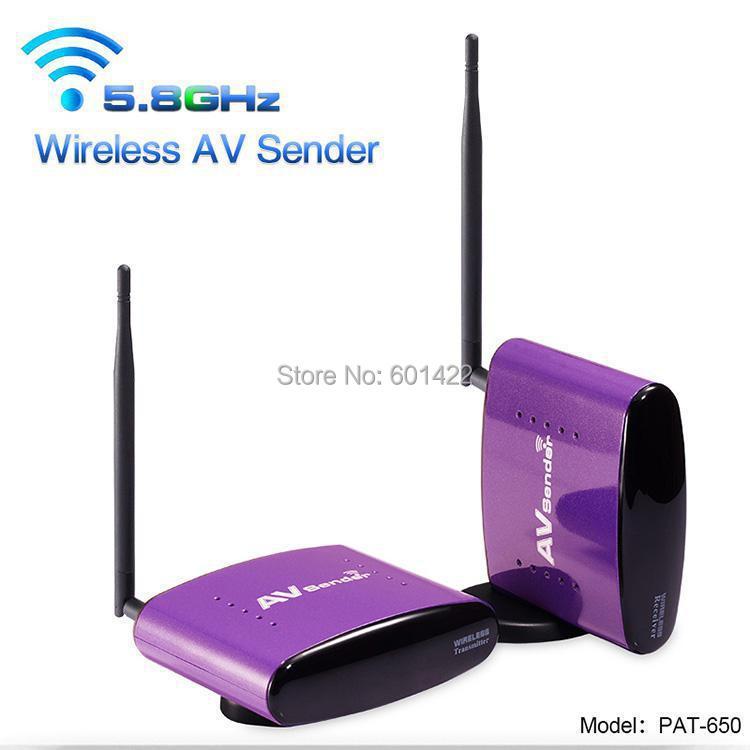 5.8Ghz IR 300 meters Wireless AV Sender TV Audio Video Transmitter Receiver IR Remote Extender for IPTV DVD STB DVR PAT-650(China (Mainland))