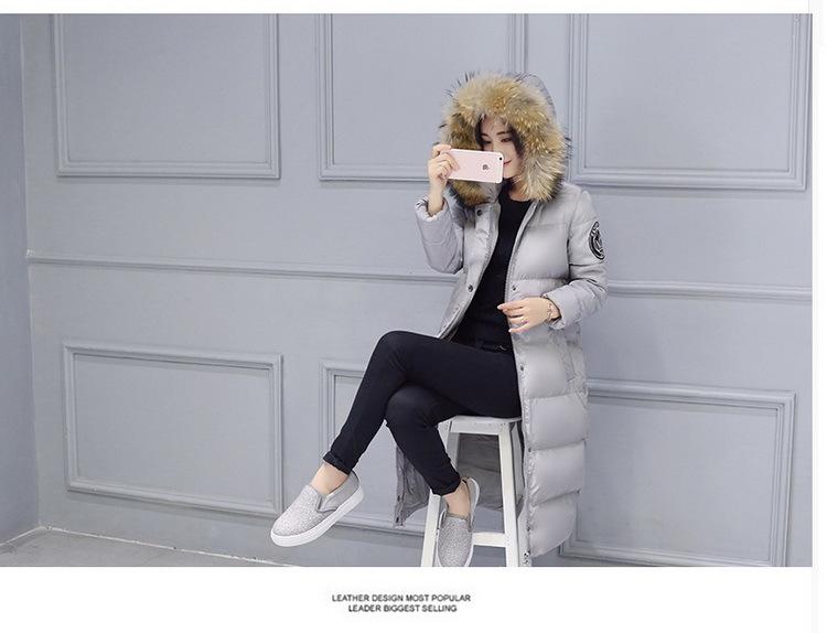 Скидки на GABREBI 2016 Мода Зима Плюс Размер Хлопка Толщиной С Капюшоном Зимой Вниз Пальто С Длинными Рукавами Меховой Воротник Женские Зимние Верхняя Одежда