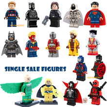 Single Sale Minifigures Marvel Super Hero Avengers Deadpool Batman Building Blocks Sets DIY Bricks Kids Toys Xmas Gifst - Bela store