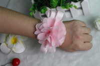 Free shipping Prom corsage Wrist corsage Wrist Flower Light Pink Bridesmaid Accessories in Wedding Decoration(10 pieces/lot)
