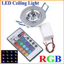 3W 200-250LM LED RGB Ceiling Light Led Spot Down Light with Remote Controller Wall Lamp Lighting (85-265V)(China (Mainland))