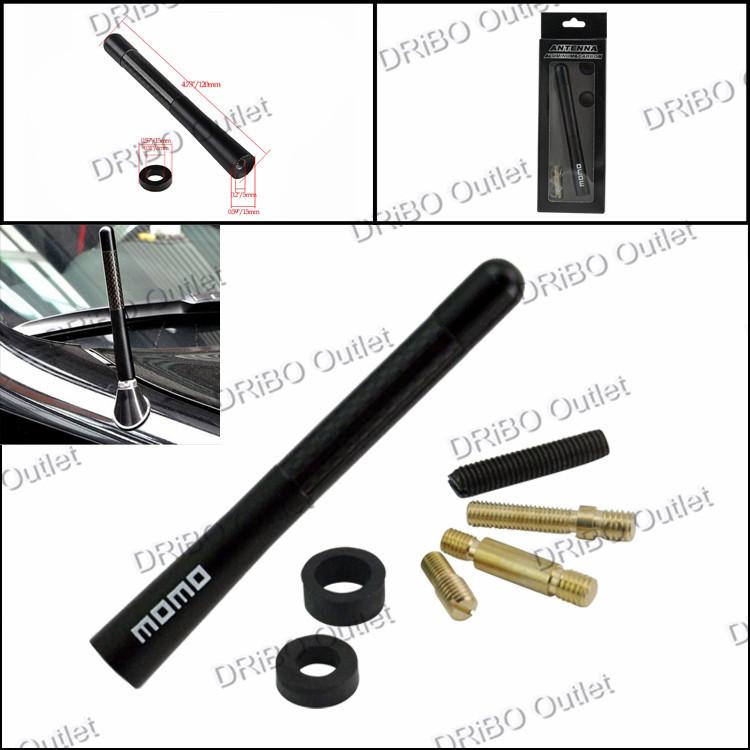 """4.8"""" 12mm Black MOMO/MUGEN/TRD/NISMO/SPC Universal Aluminum Carbon Fiber Car AM/FM Radio Antenna /Aerials(China (Mainland))"""