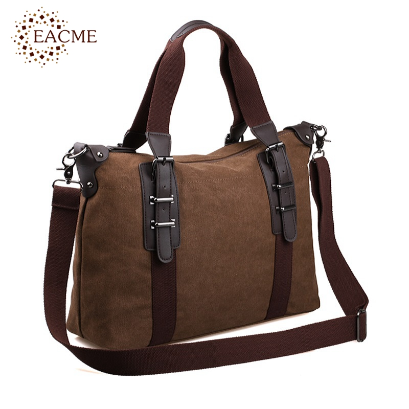 Casual Shoulder Tote Bag Men Handbag Quality Canvas Totes Shopping Hand Bags Black Brown Durable Crossbody Travel Bag Bolsos HOT(China (Mainland))