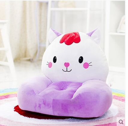 lovely plush purple cat childrens sofa toy big face cat tatami soft seat doll gift about 54x45cm<br><br>Aliexpress