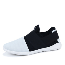 black white patchwork mens fashion shoes summer breathable slip-on walk shoes for man the same kind as the star loafers cheap