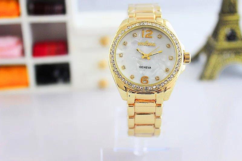 2014 recommend clock Contena fashion quartz women watches three eyes luxury diamond ladies watch female wristwatches - Anne brand bags store