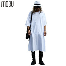 Buy MOGU Extra Long Tee Shirts Men O-Neck Extra Long Line Tops Tees Solid White Color T-shirt Men Big Size Men T Shirts for $23.46 in AliExpress store
