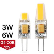 Mini Dimmable G4 COB LED Bulb 3W 6W DC/AC 12V LED G4 COB Lamp Chandelier Light Super Bright Lampada LED Replace Halogen G4 Lamp