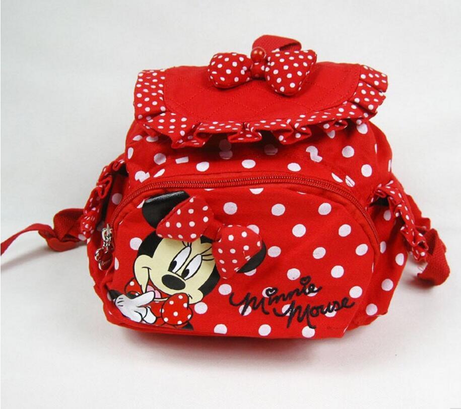 2017 New HOT Small Minnie Mouse Little Baby Children Girls Backpacks Cartoon School Bag for Kids