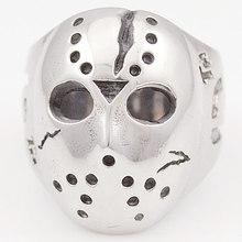 Black Friday Hockey Jason Mask SKull Rings Novel Mens 316L Stainless Steel Jewelry, ROCK, Biker, Wholesale, free shipping  VR063(China (Mainland))