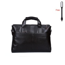 Men's business genuine leather handbag briefcase famous brand sacoche homme messenger bags laptop tote bag(China (Mainland))