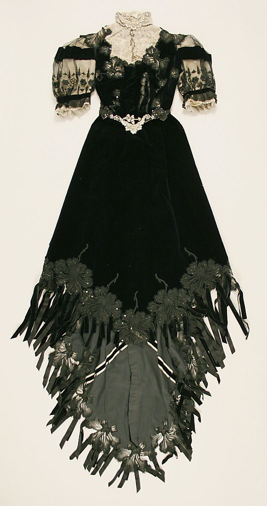 Gothic Clothing Dress Date1901  Victorian dress satin dress Civil war dress