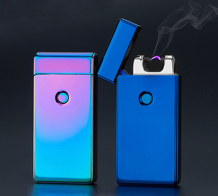 Promotional offers Pulse Arc Metal Creative Lighter USB Charging Lighter Cigarette Lighters Free Shipping(China (Mainland))