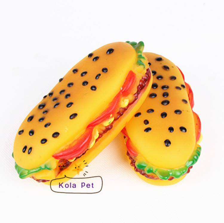 Hot selling Rubber pet chew toys, can make sound, fast food shape dog screaming toys(China (Mainland))