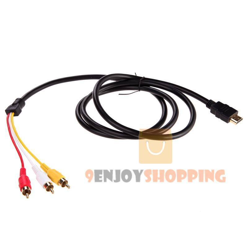 5 feet HDMI Male to 3 RCA Video Audio AV Cable Cord Adapter for TV HDTV DVD 1080P(China (Mainland))