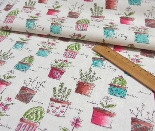 buy green plants printed linen cotton upholstery patchwork fabric