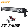 32 405W CREE Chips Spot Flood Combo Beam Offroad LED Light Bar Truck SUV 12V 24V