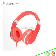 Dreamersandlovers F01 Over Ear Stereo Headphones Earphones, for Adults Kids Child Boys Girls, for iPhone Gaming Headphone Red