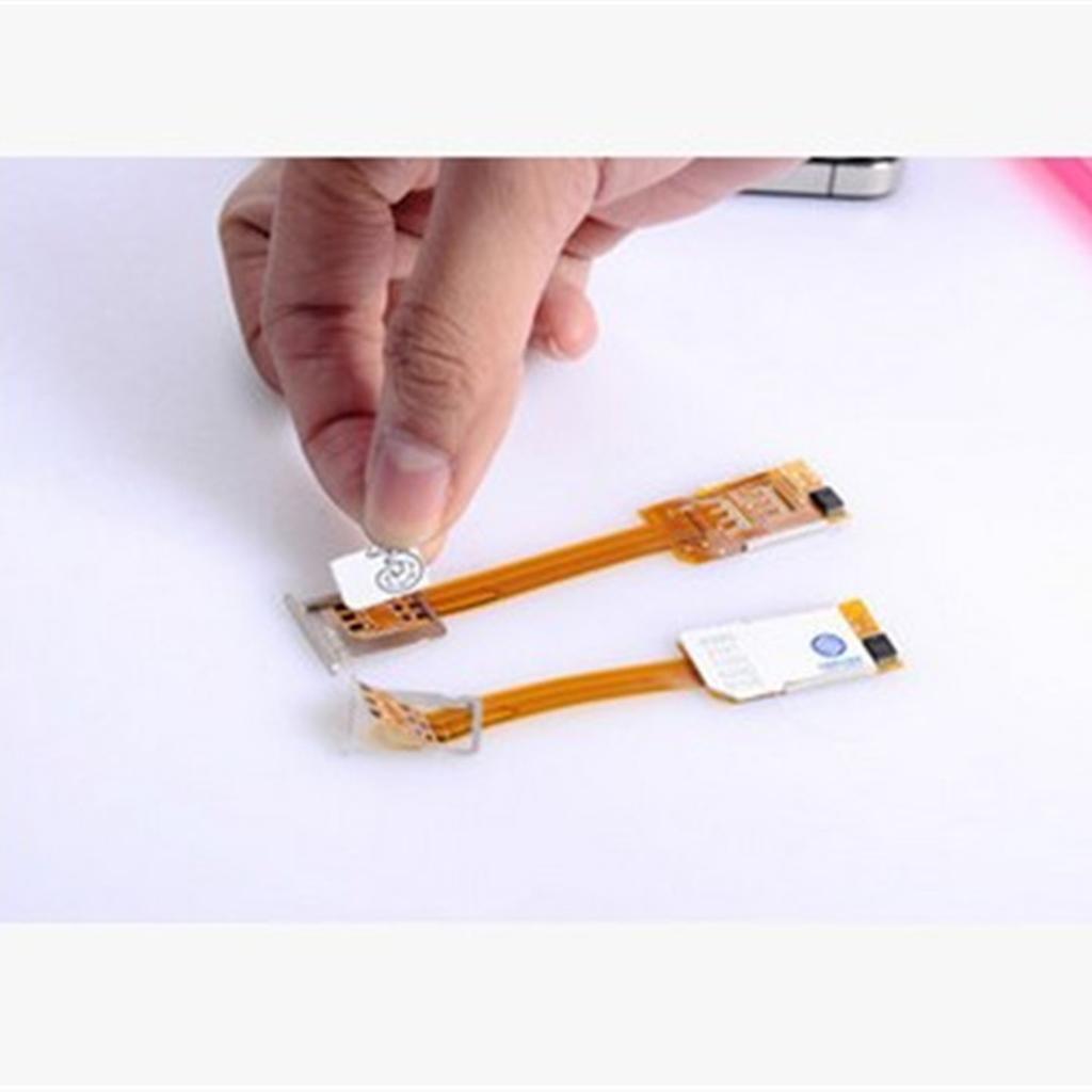 2 Pcs Dual SIM Card Adapter Converer Smartphone SIM Card Adapter For iPhone 6S/6/5S/5/4S
