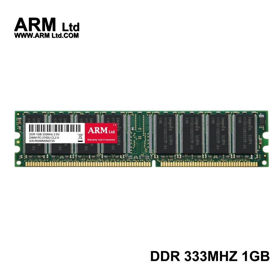 ARM Ltd DDR1 DDR 1 gb pc2700 ddr333 333MHz 184Pin Desktop ddr memory CL2.5 DIMM RAM 1G Lifetime Warranty(China (Mainland))
