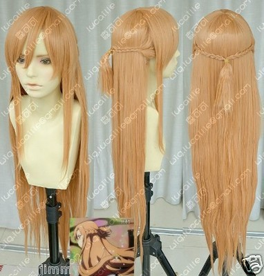 HOT! New Sword Art Online Asuna Yuuki Braid Cosplay Wig SS88003 - chuanxia chuan's store
