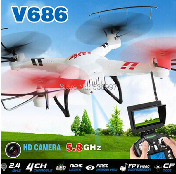 JJRC V686 (FPV Version) 4CH Drone Quadcopter With HD 720P Camera RTF 2.4GHz