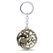 Buy JM Game Thrones Keychain Daenerys Targaryen Badge Dragon Alloy Keyring 3 Colors Song Ice Fire Key Chain Ring Chaveiro for $1.84 in AliExpress store