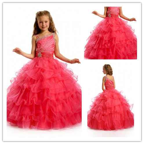 Orgaza wedding girls princess dress formal dresses junior christmas