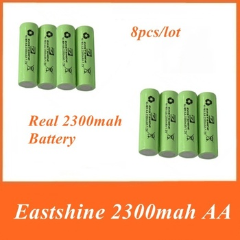 Eastshine 8pcs Best Quality 1.2v Real Capacity 2300mA Ni-MH AA Rechargeable Battery Nitecore Battery for Flashlight Torch
