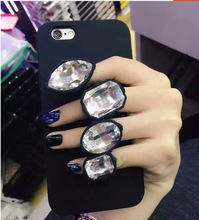Buy Bling Diamond Finger Ring Silicone Case Soft iPhone 7 7plus 5 5S 5SE 6 6S 6plus 6S plus Case Back Cover Fundas Coque for $3.37 in AliExpress store