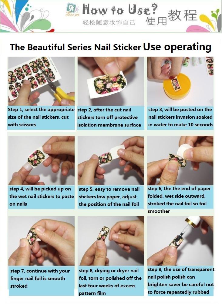 Wholesale Minx Nail Water Stickers Tips Transfer Foil Harajuku