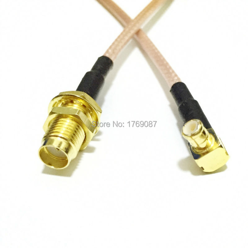 6in SMA Female Nut Bulkhead to MCX Male Right Angle Straight RG316 RF Cable Pigtail 15cm(China (Mainland))