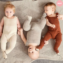 Hand Knitting Cotton Soft 0-3 years Newborn Baby Warm Romper For Infant Girls Boys winter clothes Rompers Jumpsuits Winter A263(China (Mainland))