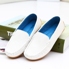 2013 autumn children shoes white casual all-match fashion child gommini male child leather loafers child single shoes female(China (Mainland))