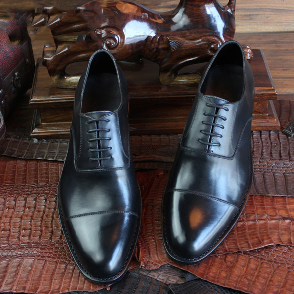 2016 Luxury bespoke mens goodyear welted shoes france mens european shoes boss formal shoes imported leather oxfords shoes(China (Mainland))