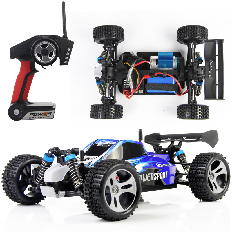 wltoys a959 1 18 four wheel drive 4wd electric rc car off road independent suspension 50km. Black Bedroom Furniture Sets. Home Design Ideas