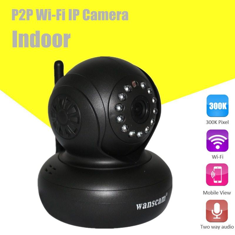 Wireless 32G TF MicroSD Card Slot Plug & Play PC CMS Two-way audio Security Surveillance Webcam Network IP Camera WANSCAM(China (Mainland))
