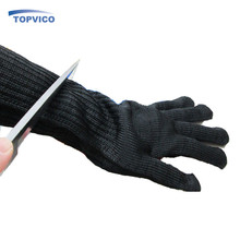 Long Kevlar Gloves With Stainless Steel Wire Anti-cutting Breathable Working Gloves Safety Protect Gloves Cut Metal Mesh Butcher(China (Mainland))