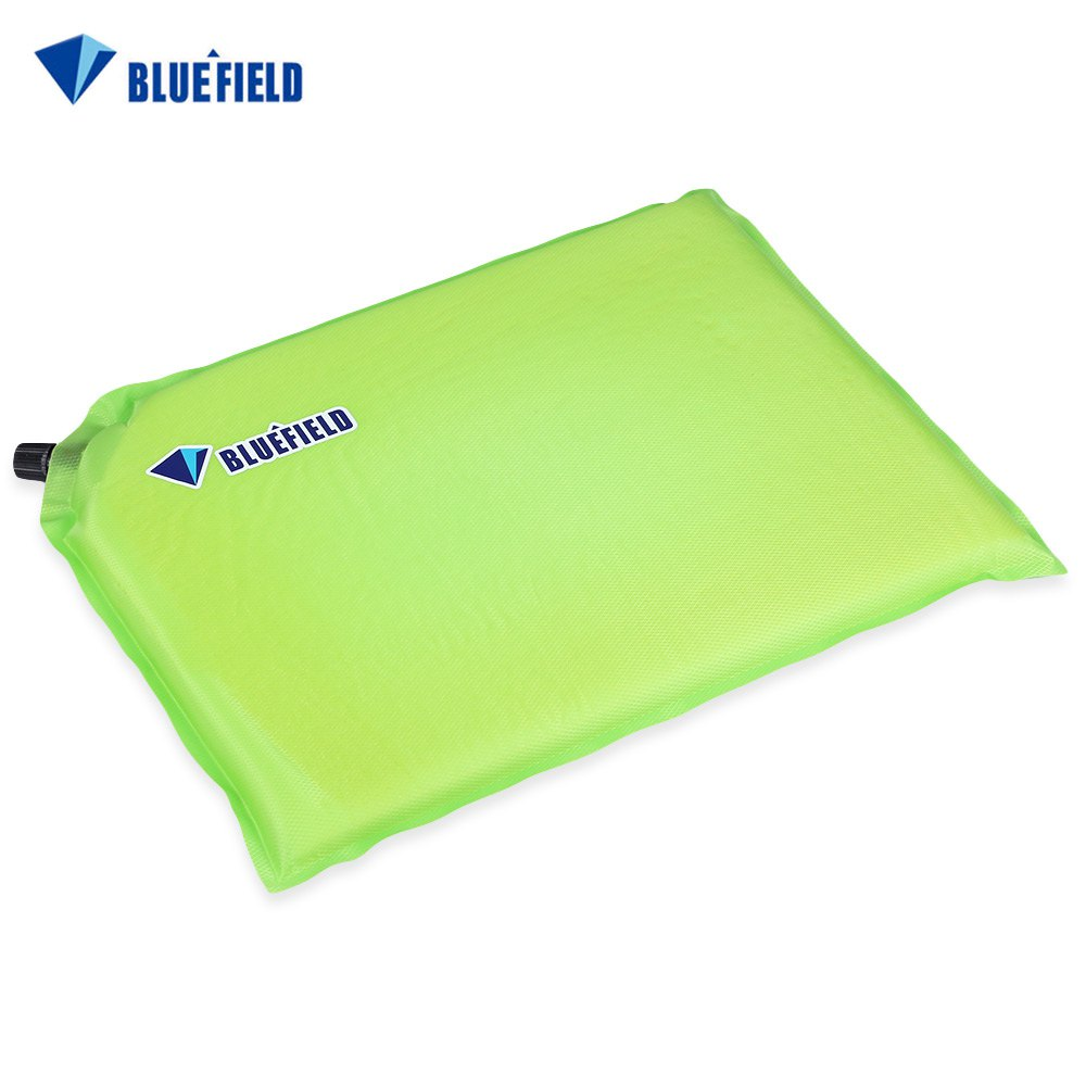 Bluefield Outdoor Automatic Inflatable Foldable Sponge Mat Single Person Mini Seat Pad Moistureproof Cushion Traveling Camping(China (Mainland))