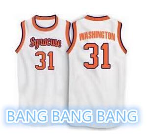 Best Quality Mens#31 Dwayne Pearl WASHINGTON Syracuse Orange Basketball Jersey White Orange Dwayne Pearl Stitched jerseys(China (Mainland))
